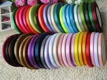 цена на 500yards/lot 6mm Ribbon 20 Color Mixed 25yards/Color Diy Clothes Accessories Multicolour Ribbon  Free Shipping