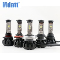 Mdatt Car LED Headlight Kit H4 H7 H11 9005 9006 w/ XHP50 Chips Replacement Bulbs 6000K Lights