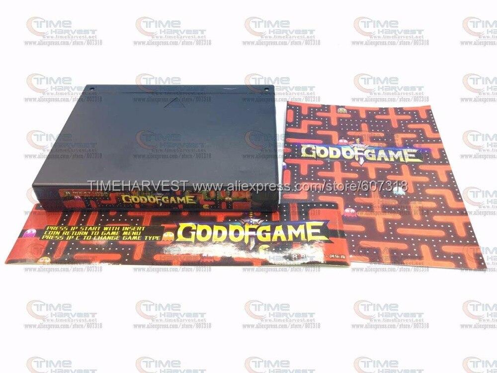 Prix pour Livraison gratuite Nouveau jeu d'arcade JAMMA conseil DIEU DE JEUX 900 en 1 jeu d'arcade PCB multi jeux de combat multigame avec VGA sortie