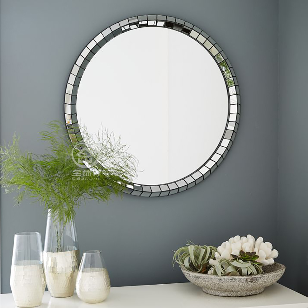 Modern Round Wall Mirror Glass Console Mirror Bathroom Venetian Mirror Wall Decorative Mirrored Art Decorative Mirrors Aliexpress