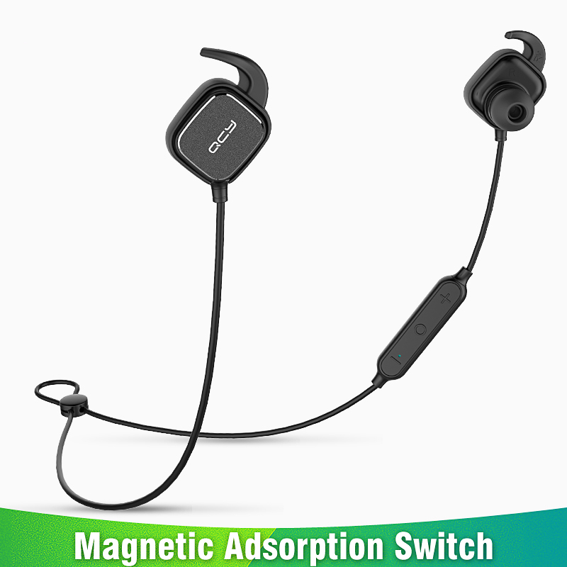 2018 QY12 magnetic switch sports headphones wireless Bluetooth earphones sweatproof running headset gamer earbuds with MIC magnetic switch earphones sports running wireless earbuds bass bluetooth headsets in ear with mic for running fitness exercise