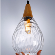 Modern Europe glass pendant light LED E27 with 3 colors