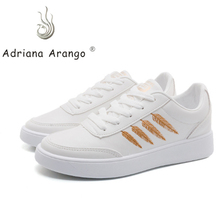 Adriana 2019 spring and summer new wild casual leather women's shoes thick bottom striped breathable flying woven sports shoes