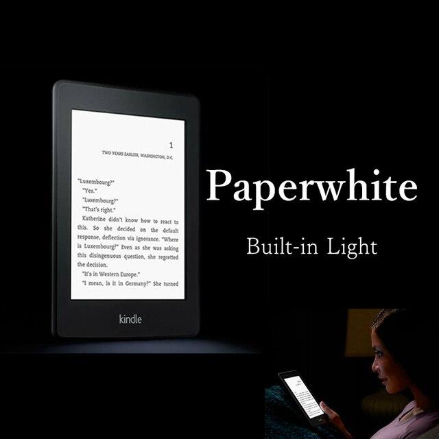 Reacondicionado Kindle Paperwhite lector de libros electrónicos de 6 generación construido en luz 6 pulgadas 2 GB lector de libros electrónicos Ereader no caja