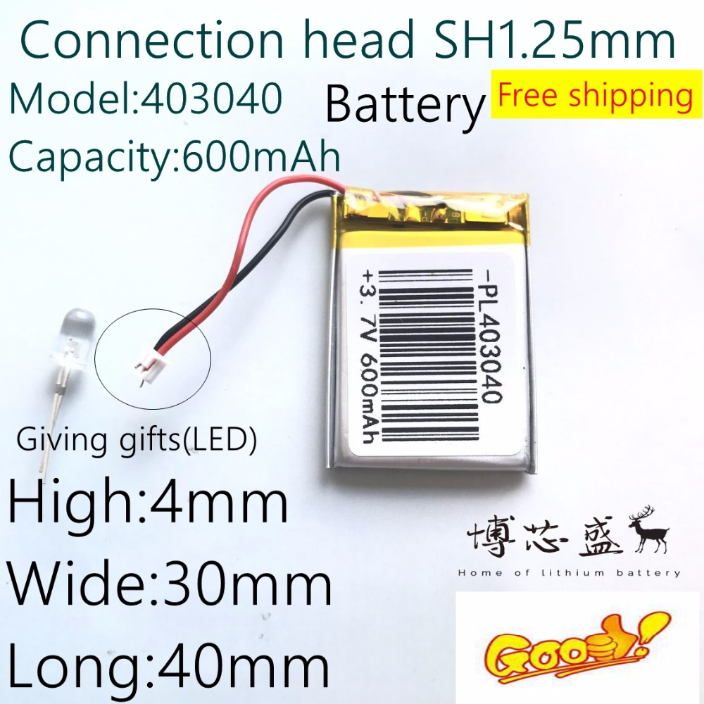 Lithium-Polymer-Battery Small 403040 Bluetooth MP4 600mah GPS MP3 Stereo