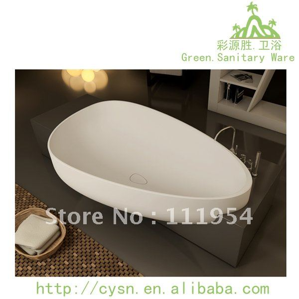 Semi recessed bathtub freestanding-in Bathtubs & Whirlpools from ...