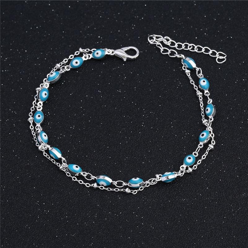 Turkish Eyes Beads Anklets  Pulseras Tobilleras Anklet Bracelet Foot Jewelry uk