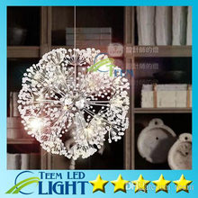Droplight 47CM European Luxury Creative Dandelion LED Crystal Chandeliers Modern Minimalist K9 Crystal Living Room(China)