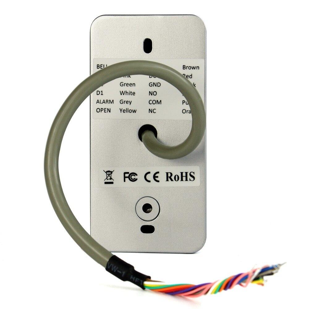 5pcs T-AC03 Keypad RFID Access Control System Proximity Card Standalone 2000 Users Door Access Control Waterproof F9501D