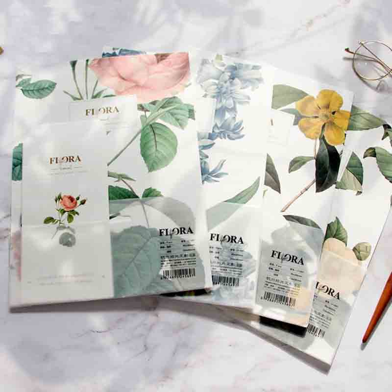 1 Pack Hot Sale 3 Envelopes+6 Writting Paper Flora Flowers Series Envelope For Gift Stationery School Supplies Material Escolar