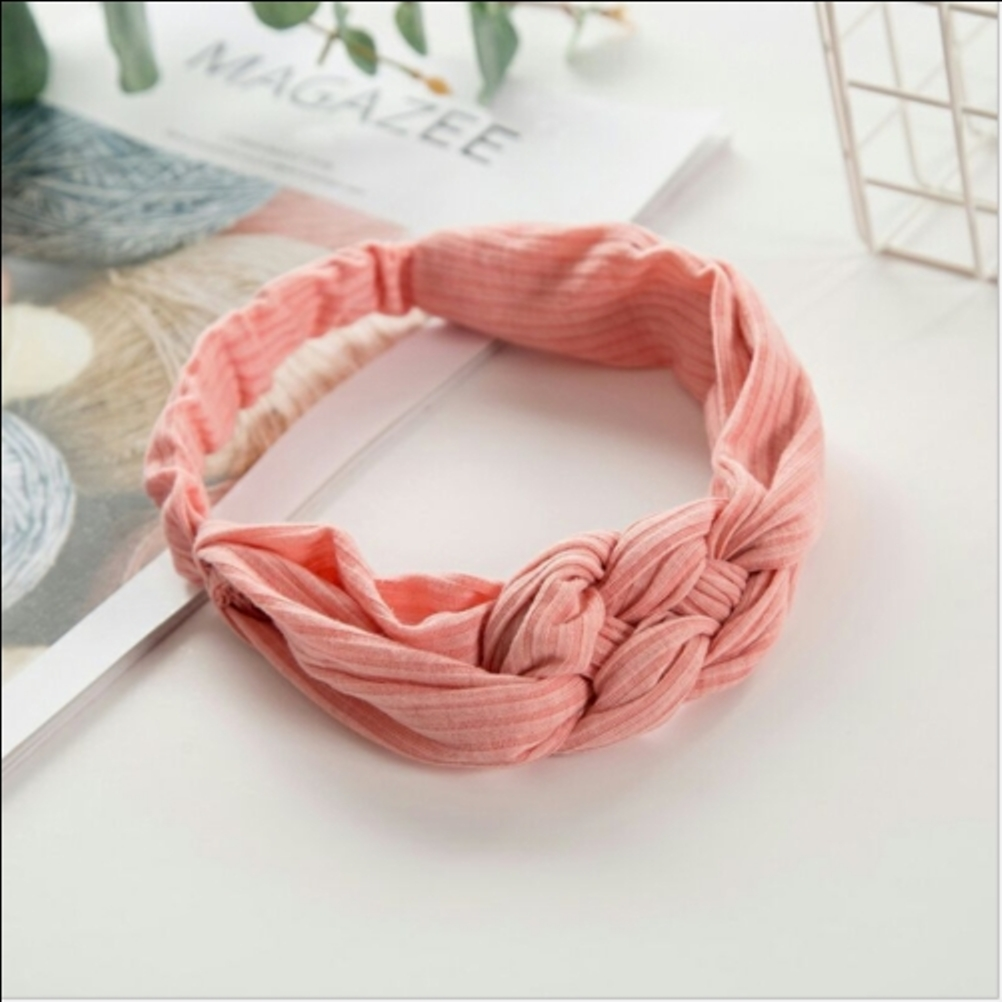 5 Colors Stretchy Twist Knot Solid Color Cross Kink Headband Plain Elastic   Headwear   Gilrs Cute Gifts Casual Hair Accessories