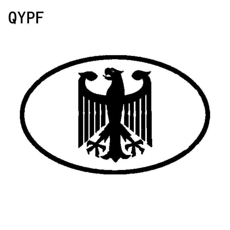 QYPF 15.6CM*9.8CM Fashion German Eagle Crest Oval Car Sticker Vinyl Decal Accessories C15-0863