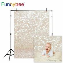 цены Funnytree backdrop for photographic studio golden shine christmas abstract bokeh halo baby shoot sand background photocall beach