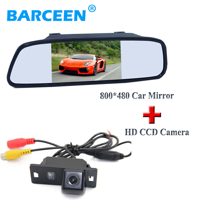 car reversing camera colorful night vision +800*480 hd lcd car display mirror 5 use for Audi A4L 2013~2014 / TT/ A5/ A6/Q5