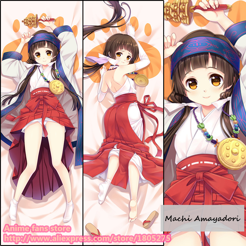 Anime Kuma Miko: Girl Meets Bear Machi Amayadori Cute Loli Japanese Pillowcase Pillow Case Cover decorative Hugging Body Bedding - fans store