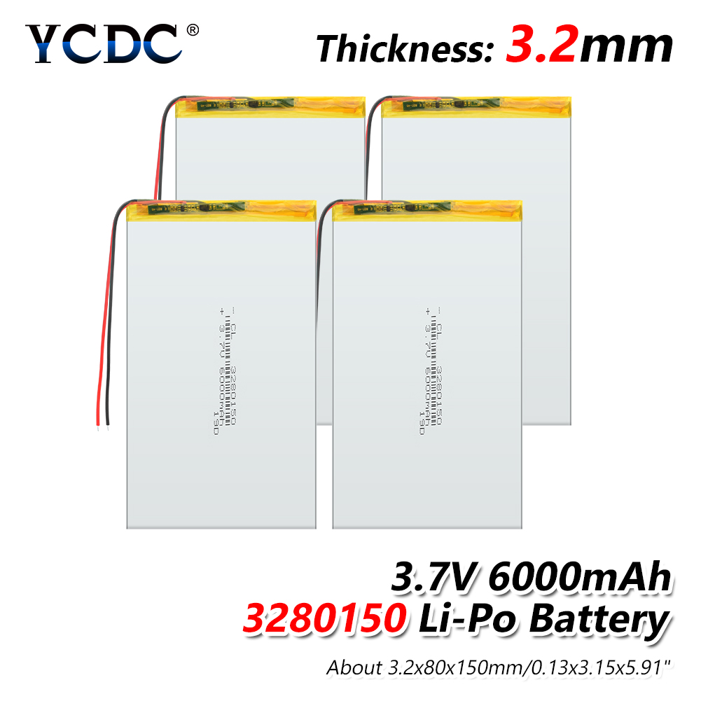 <font><b>3.7V</b></font> <font><b>6000mAh</b></font> 3280150 PLIB ( Polymer Lithium Ion <font><b>Battery</b></font> ) Li-ion Polymer <font><b>Lipo</b></font> <font><b>Battery</b></font> For GPS MP3 MP4 MP5 E-book Power Bank image