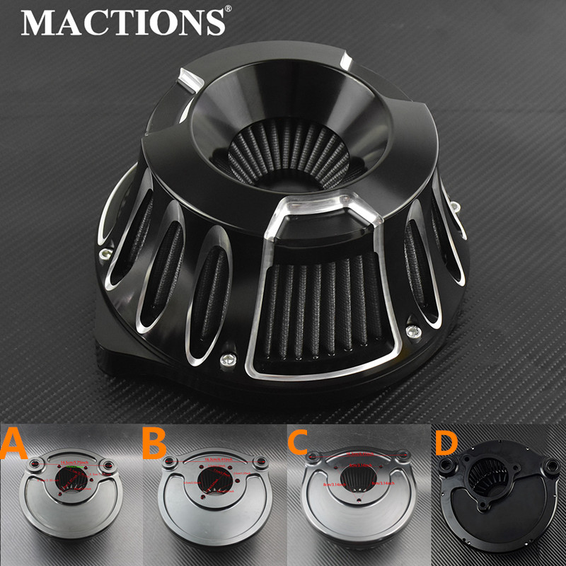 Motorcycle CNC Crafts Air Cleaner Intake Filter For Harley Softail CV Carb Sportster Touring Dyna Touring