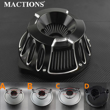 Motorcycle CNC Crafts Air Cleaner Intake Filter For Harley Softail  CV Carb Sportster Touring Dyna Touring Model Custom