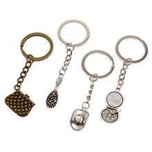 Hot Sale Key Chain Ring Dress Up Tool Accessories Metal Pendant Bag Charm Keyring Handmade Souvenir Gifts For Men