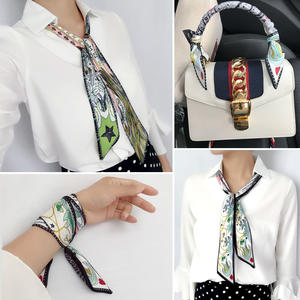 Divination Scarves Braid Tarot Twill Silk Small Ribbon Women Ladies for Double-Printing-Bag