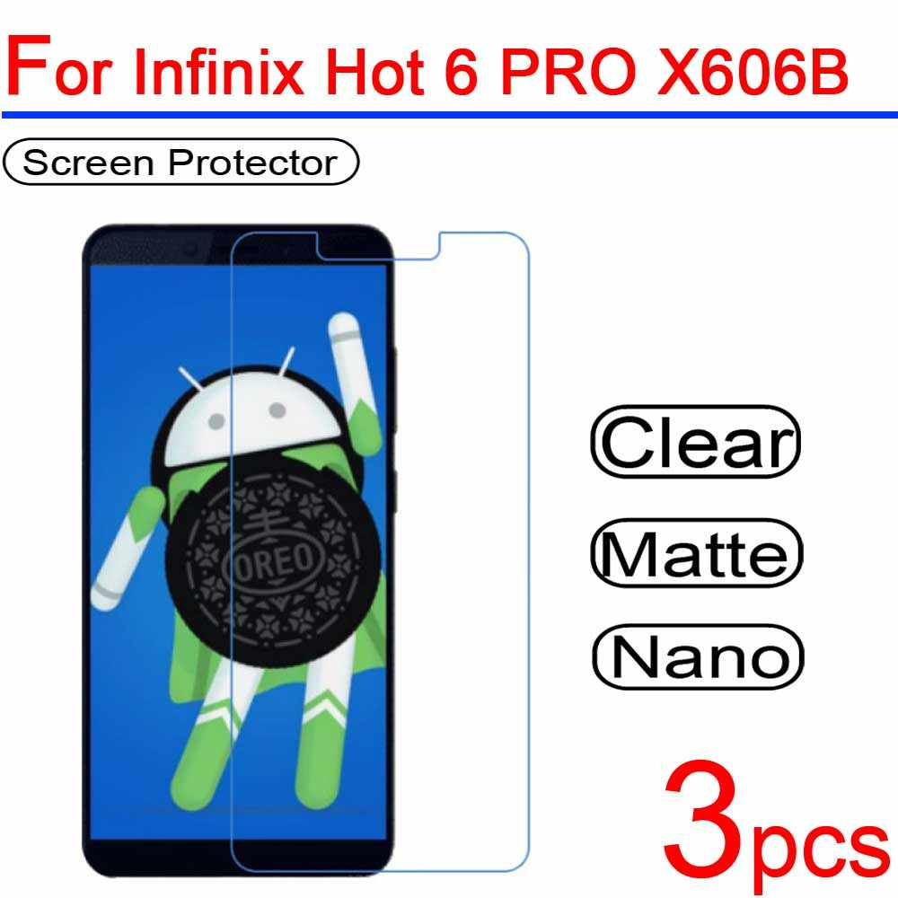 3pcs Ultra Clear Soft LCD For Infinix Hot 6 PRO X606B Screen Protectors  Guard Cover for Infinix Hot 6 PRO X606B Protective Film