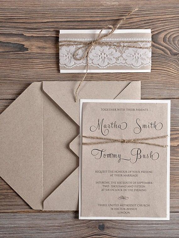 Country Inspired Wedding Invitations Wedding Invitations – Country Style Wedding Invites