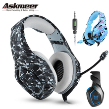 ASKMEER PS4 Gaming Headset casque Best PC Stereo Earphones Headphones with Microphone for Xbox One/Laptop Tablet Gamer