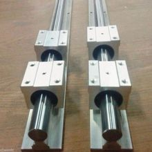 2 комплекта SBR16 500 мм полный поддерживаемый линейный рельсовый вал стержень+ 4 SBR 16UU NE