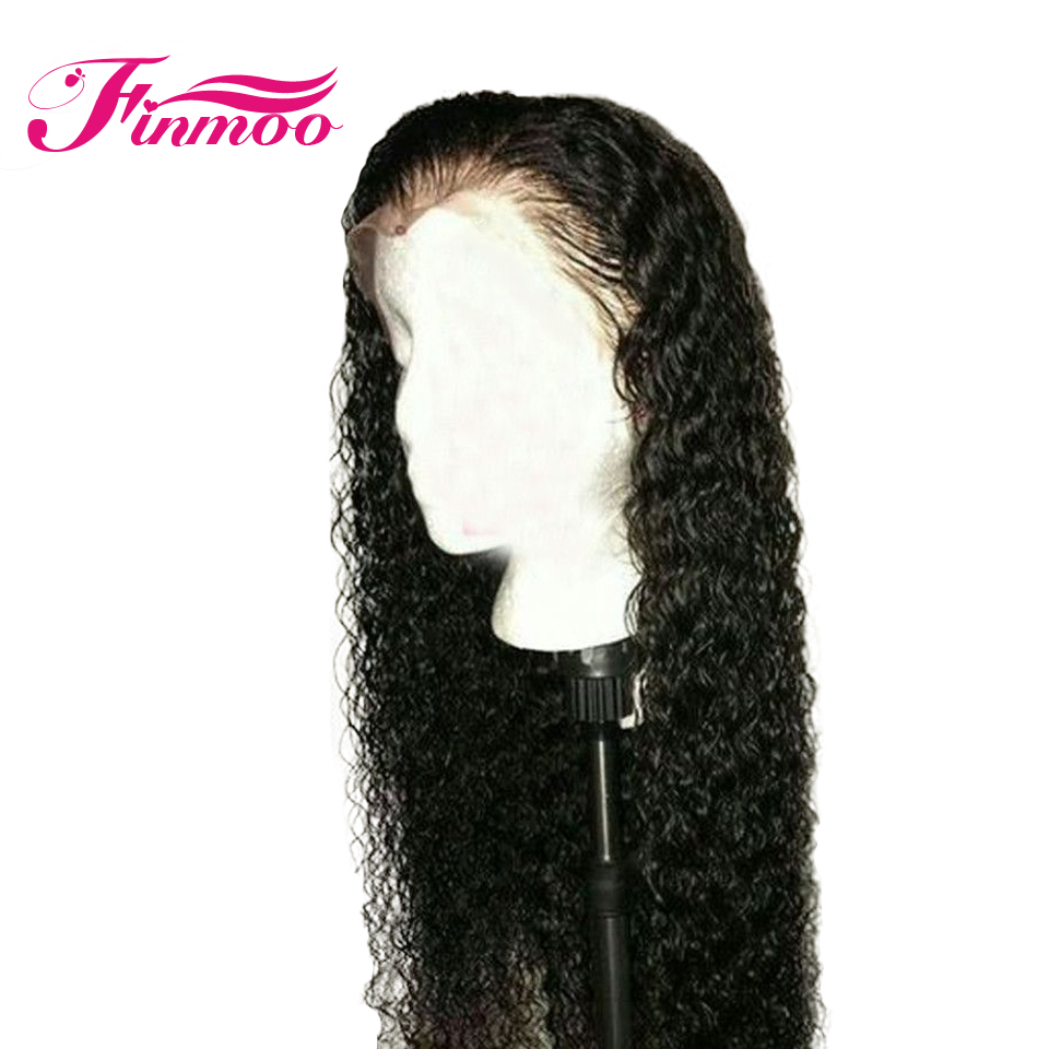 13*6 Curly Lace Front Human Hair Wigs Pre Plucked With Baby Hair Brazilian Remy Hair Lace Front Wigs For Women Bleach knots(China)