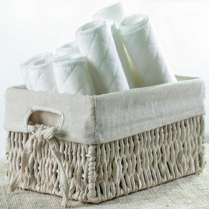 Pañales de bebé reutilizables insertos de pañales de tela 1 pieza 3 capas acolchado insertar 100% algodón lavable productos para el cuidado del bebé