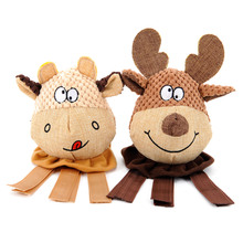 HOOPET Dog Chew Toy Elk Calf  Interactive Training Puzzle Funny Sound Toys Signature Cotton