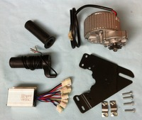 MY1018 450W 36V Gear Brush Motor With Motor Controller And Twist Throttle DIY Electric Bicycle Kit