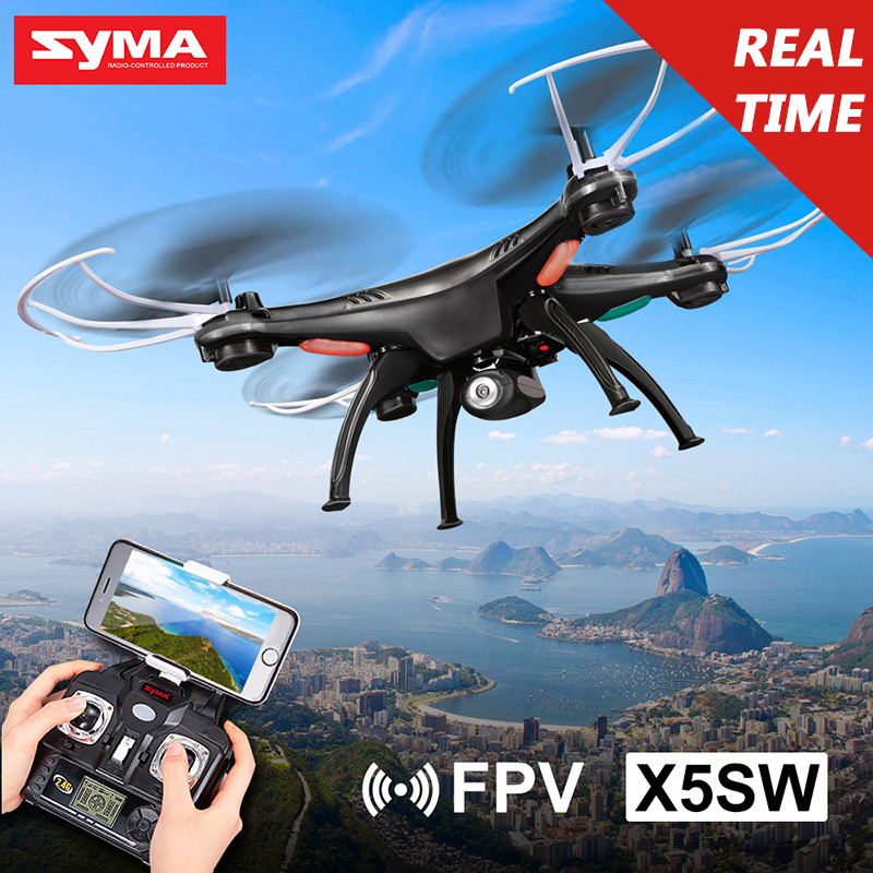 SYMA X5SW Drone with WiFi Camera 2.4G 4CH 6-axis Real-time Transmit FPV Quadcopter (X5C Upgrade) HD Camera Dron RC Helicopter syma x5c rc drone 4ch 6 axis helicopter quadcopter 2 0mp hd camera drone