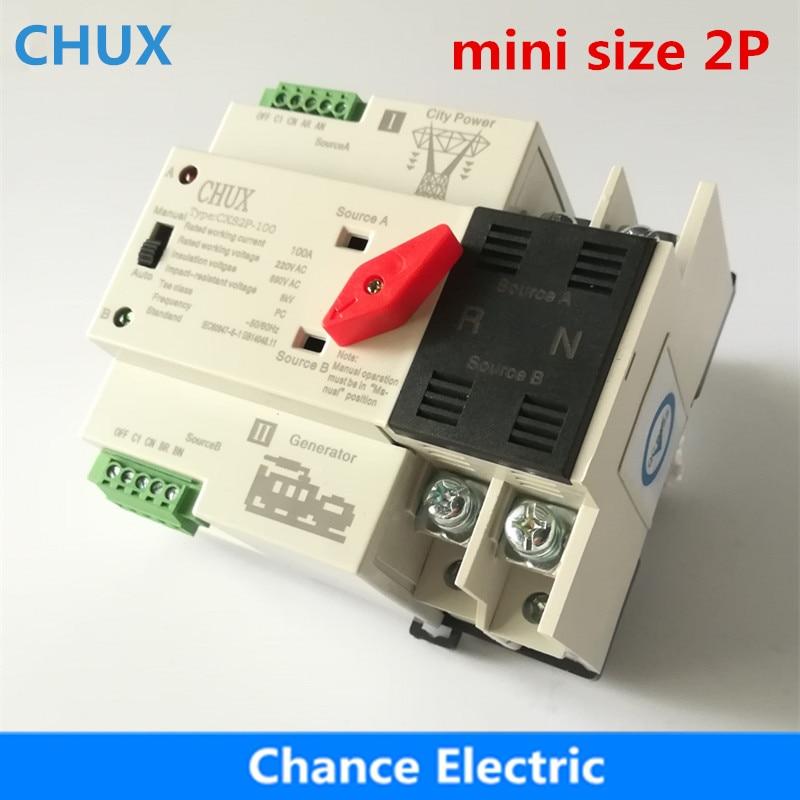 aliexpress com buy dual power switch cxs2p 100a mini ats 2p rh aliexpress com