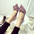 2016 Sweet Bowtie Summer Women's Pumps Thin Heels Red Adhesive High Heels Shoes Patent Leather Shallow Shoes G202 35