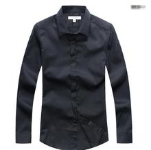 pure color Long Sleeve Men Shirts New Design Top Quality Pure Color Spring Fashion Business Men Dress Shirts