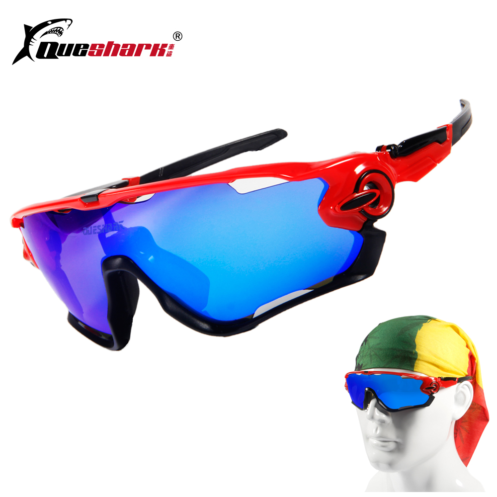 2018 Brand New Queshark Polarized Cycling Sunglasses Cycling Glasses For Bike Bicycle 3 Lens UV Protection cycling eyewear 3 lens gub 4000 men polarized cycling glasses outdoor sports bicycle glasses bike sunglasses tr90 goggles