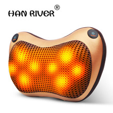 HANRIVER Cervical spine massager neck lumbar back electric utility vehicle body massage pillow, cushion for leaning on