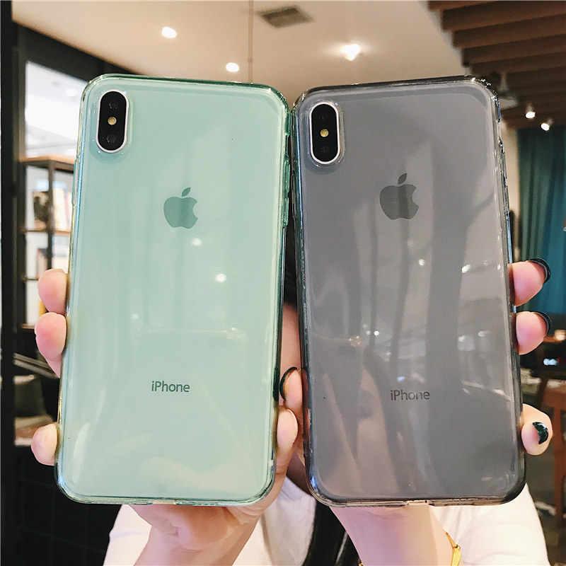 Moskado przezroczyste cukierki kolorowa obudowa na telefon dla iPhone 11 11Pro Max 7 8 6 6s Plus X XR XS Anti-knock miękka silikonowa obudowa z tpu