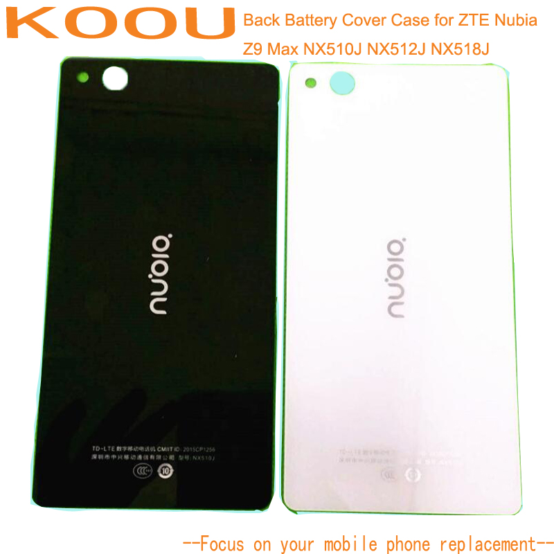 Back Cover Case For ZTE Nubia Z9 Max NX510J NX512J NX518J 5.5'' Smart Phone Back Housing Battery Case Cover Hard PC Black White