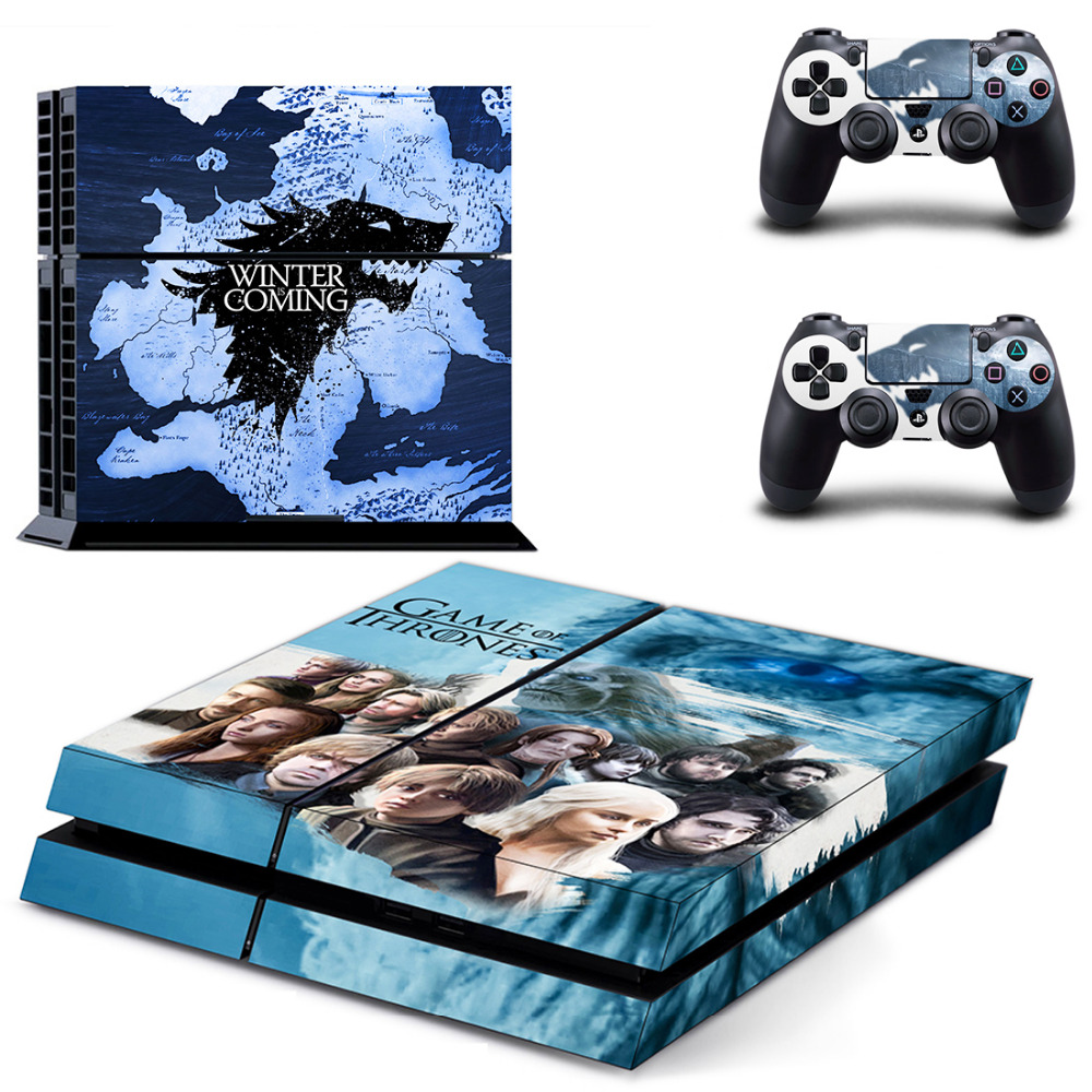 Game of Thrones Winter is Coming PS4 Skin Sticker Decal for Sony PlayStation 4 Console and Controller Skin PS4 Sticker Vinyl