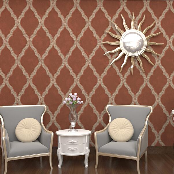 Moroccan Beige trellis Geometric Trellis Wallpaper Modern Non Woven Wall Papers Home Decor For Living Room Bedroom geometric wallpaper modern wallpaper pvc background wall wallpaper for living room wall papers home decor bedroom wallpaper