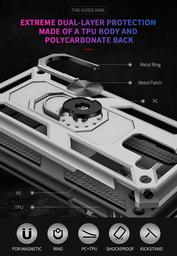 Suporte para carro de Sucção Magnética Caso Armadura para Samsung Galaxy J7 J3 J4 2018 J4 J6 Plus J2 Pro J2 Núcleo 2 em 1 Anti-knock Tampa Do Telefone