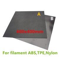 1 Set Neue 400X400mm Heatbed Magnetische Klebstoff aufkleber Flex Bauen Platte Für ABS  Nylon  TPE Filament A + B pc isolierung film kit