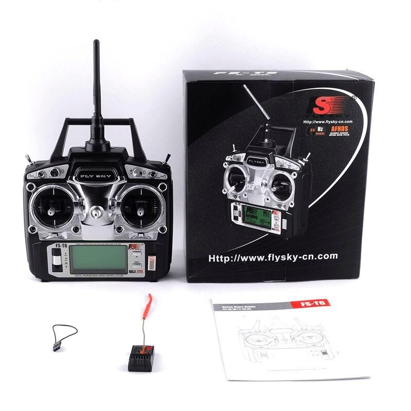 Flysky FS T6 FS T6 6ch 2 4g w LCD Screen RC Transmitter FS R6B Receiver