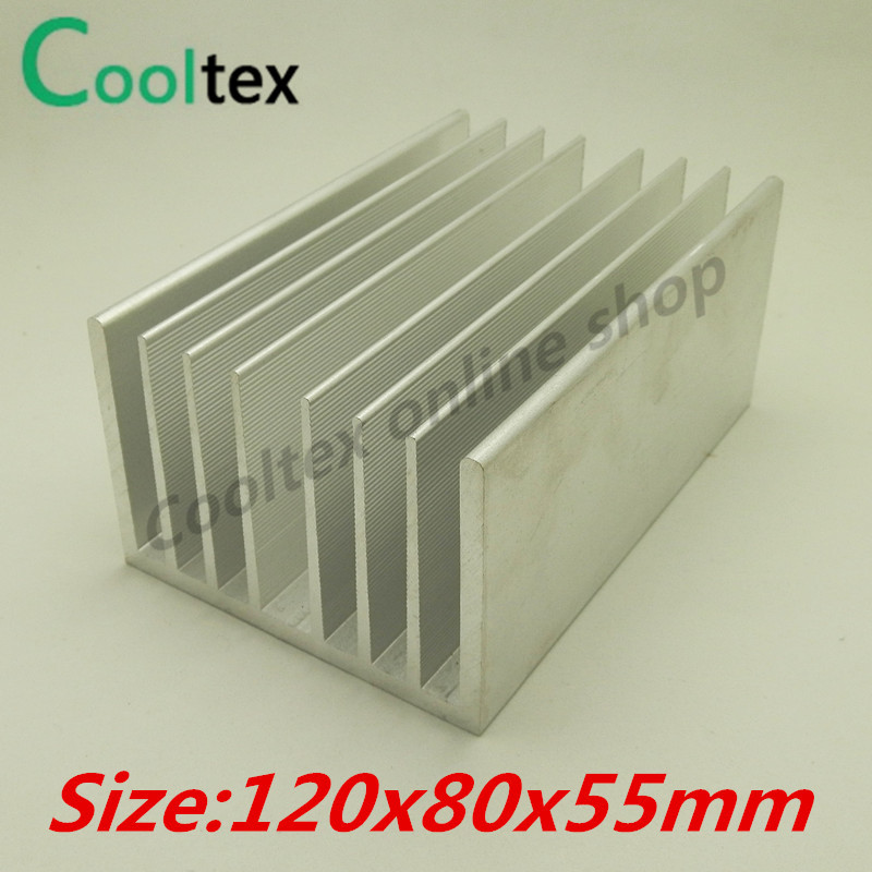(High power) 120x80x55mm Aluminum heatsink Heat Sink radiator cooler for chip LED Electronic cooling 20pcs lot aluminum heatsink 14 14 6mm electronic chip radiator cooler w thermal double sided adhesive tape for ic 3d printer