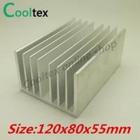 High Power 120x80x55mm Aluminum Heatsink Heat Sink Radiator Cooler For Chip LED Electronic Cooling