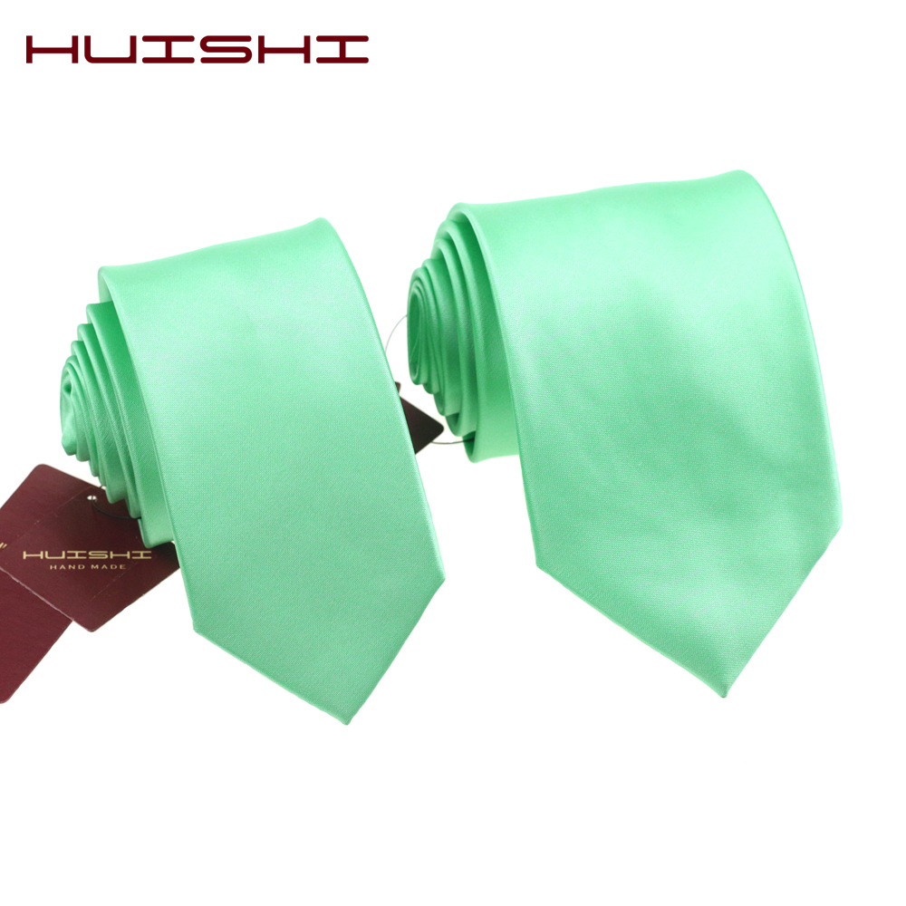 HUISHI New Formal 8CM Mint Green Ties For Man Tie Slim 6CM Microfiber Waterproof Male Casual Necktie Party Wedding Business