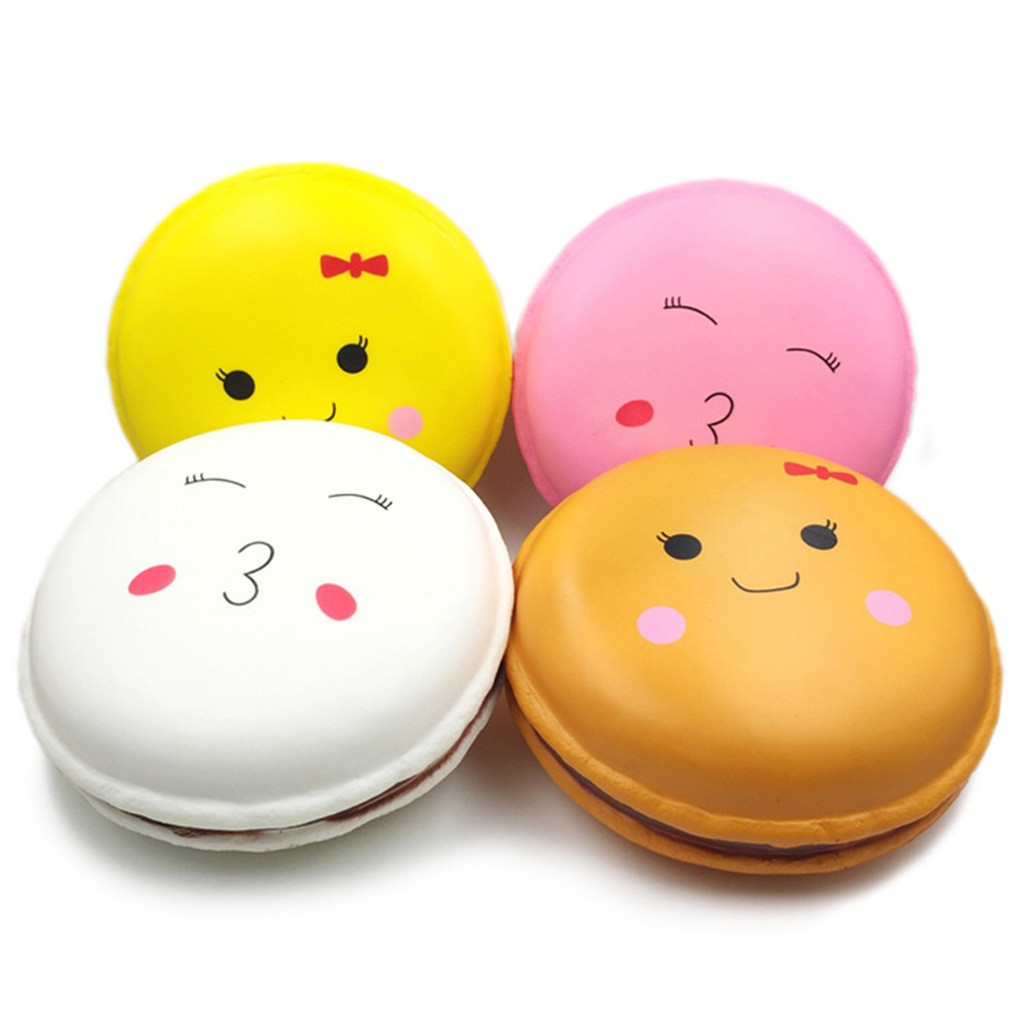 Adorable Squishies Kawaii Jumbo Macaroon Slow Rising Cream Scented Stress Relief Stress Reliever Squeeze Toys for Children