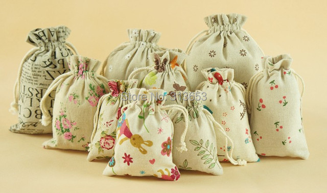 9x15cm Jute Drawstring Bags Party Favor Souvenir Storage Bag For Jewelry Package Wedding Candy